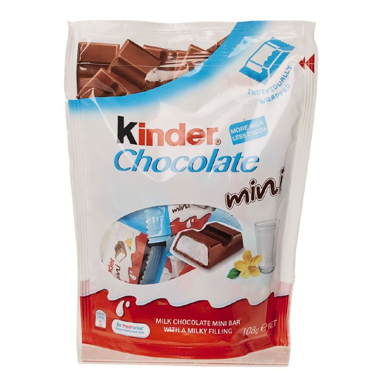 Kinder Chocolate Minis 120g 20 Pack, , hi-res image number null