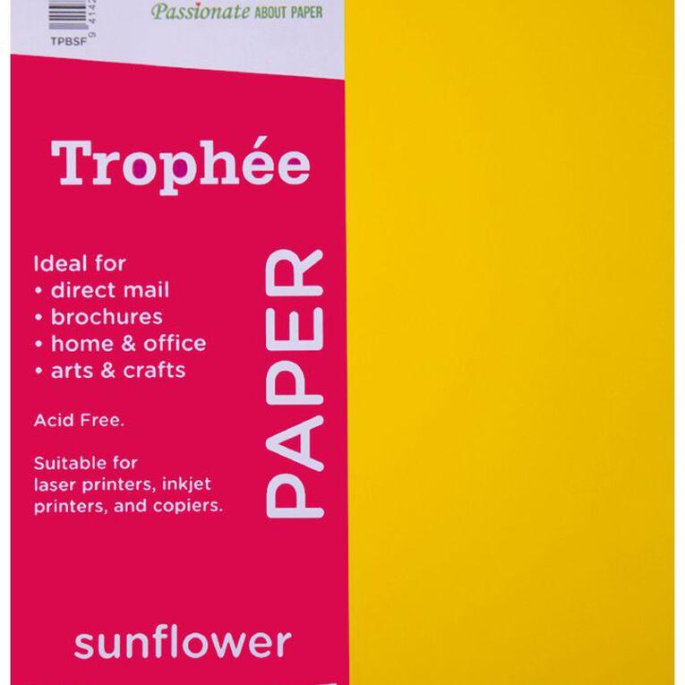 Trophee Paper 80gsm 100 Pack Sunflower Orange A4, , hi-res