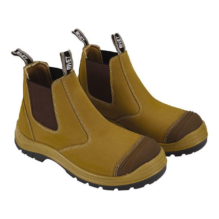 Rivet Men's Odion Slip On Work Boots, Beige, hi-res