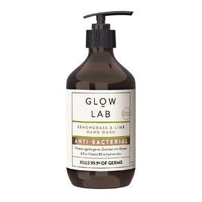 Glow Lab Hand Wash Antibacterial Pump Lemongrass & Lime 300ml
