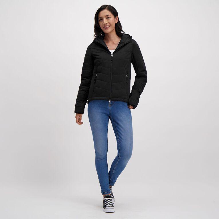 Active Intent Women's Marl Jacket, Black, hi-res