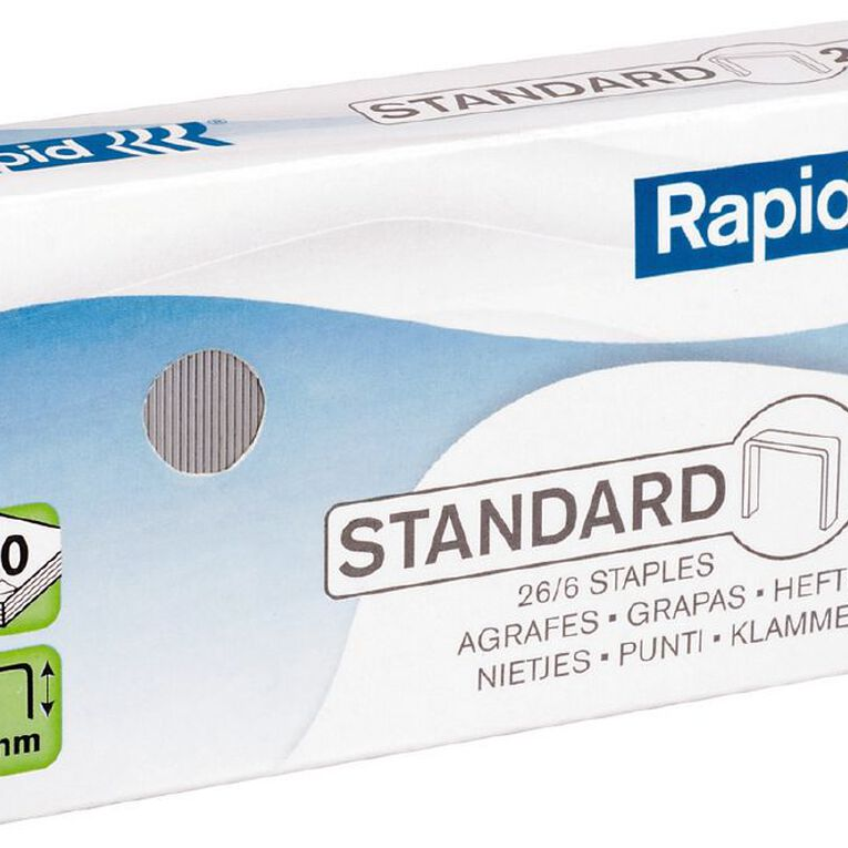 Rapid Staples 26/6 Pack of 5000 Silver, , hi-res