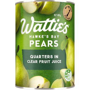 Wattie's Pear Quarters in Juice 410g