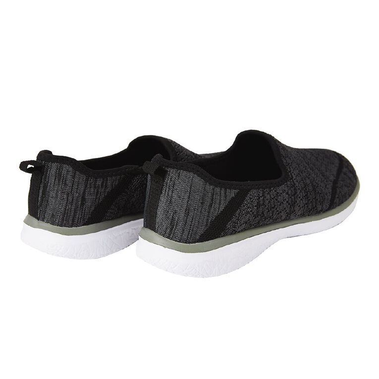 H&H Women's Knitted Casual Shoes, Black/Grey, hi-res