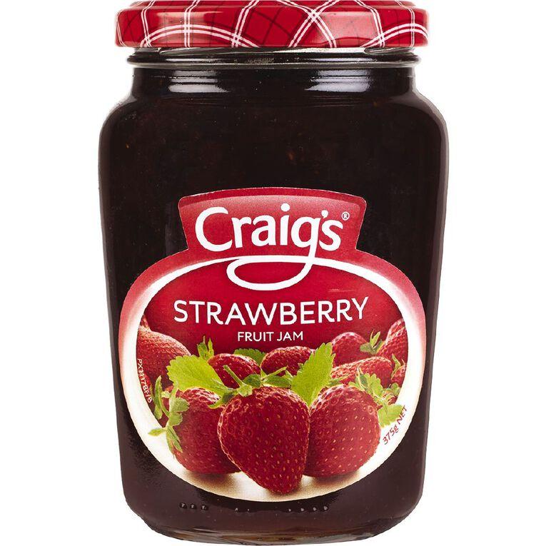 Craig's Strawberry Jam 375g, , hi-res