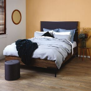 Living & Co Austin Bedframe with Fabric Headboard Queen