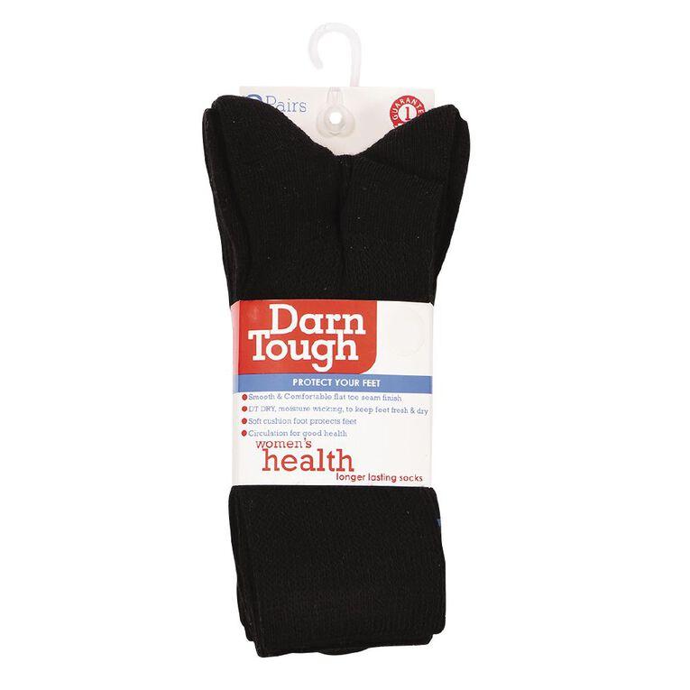 Darn Tough Women's Comfort Crew Health Socks 3 Pack, Black, hi-res image number null