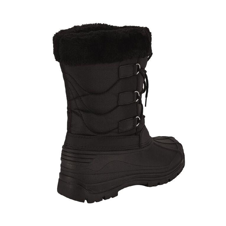 Active Intent Woman's Ochre Snow Boots, Black, hi-res