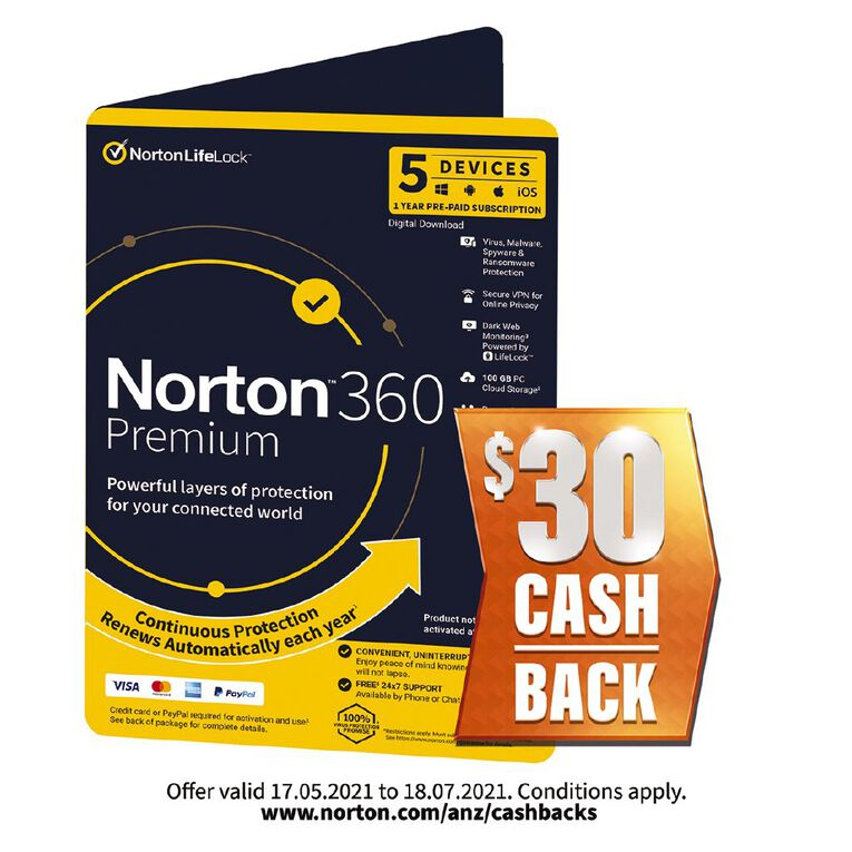 Norton 360 Premium 5 Device 12 Months, , hi-res