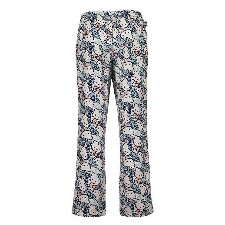 Hello Kitty Women's Flannalette Pyjama Pants, White, hi-res image number null