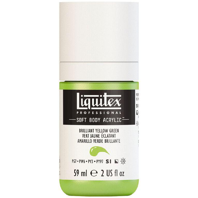 Liquitex Soft Body Acrylic 59ml Brilliant Yellow Green S1, , hi-res