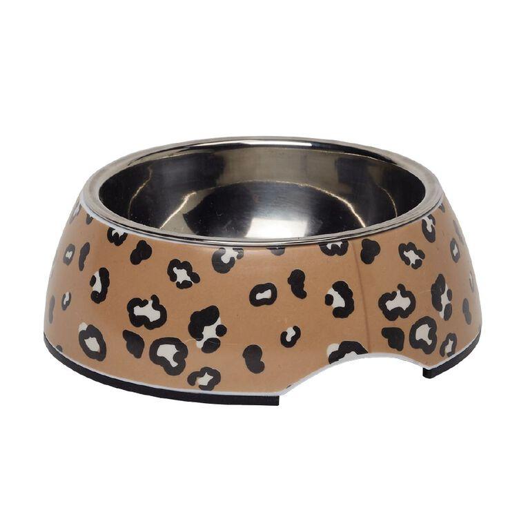 Petzone Cat Melamine Bowl in Leopard Print, , hi-res