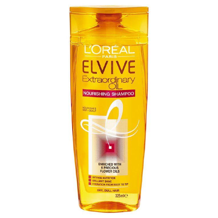 L'Oreal Paris Elvive Extraordinary Oil Shampoo 325ml, , hi-res
