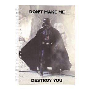 Star Wars Adult Notebook Don't Make Me Destroy You Black A4