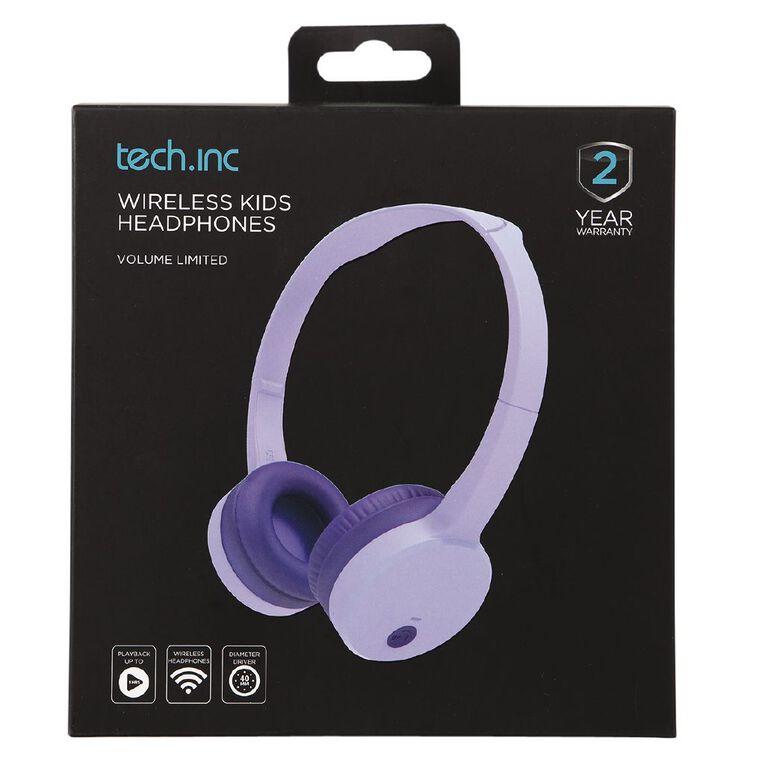 Tech.Inc Wireless Kids Headphone Volume Limited Purple, , hi-res