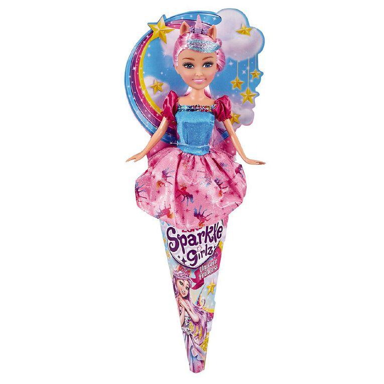 Zuru Sparkle Girlz Unicorn Princess in Cone Assorted, , hi-res