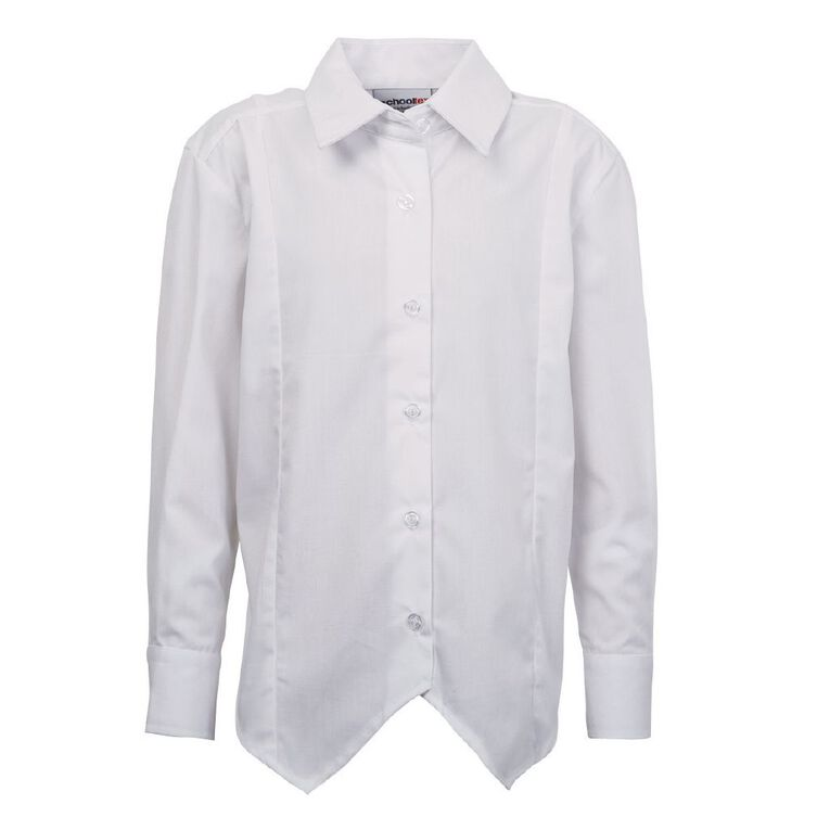 Schooltex Long Sleeve School Blouse, White, hi-res