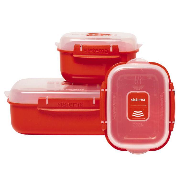 Sistema Heat & Eat Red 3 Pack, , hi-res