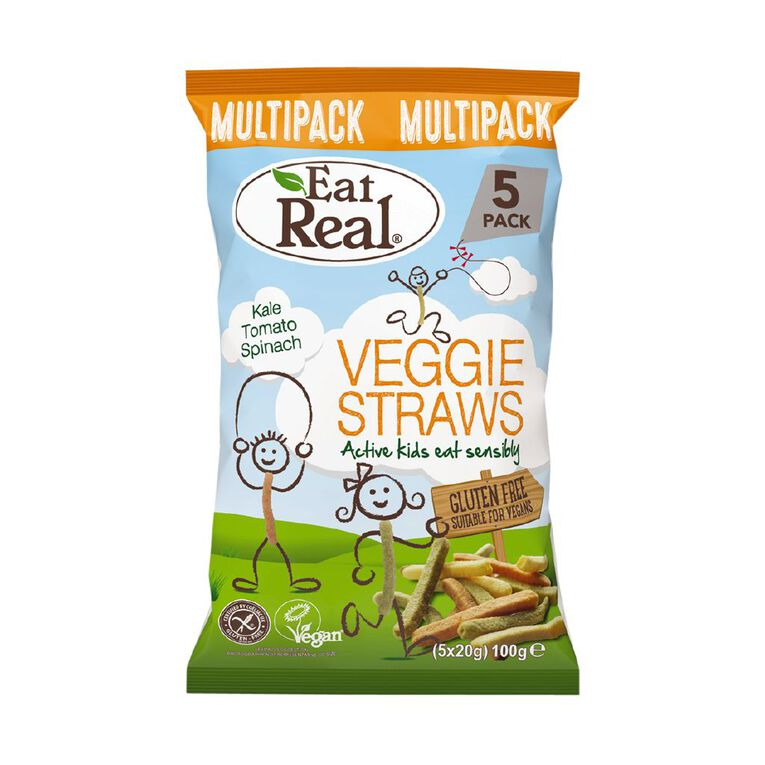 Eat Real Veggie Straws Multi-pack 5 x 20g, , hi-res