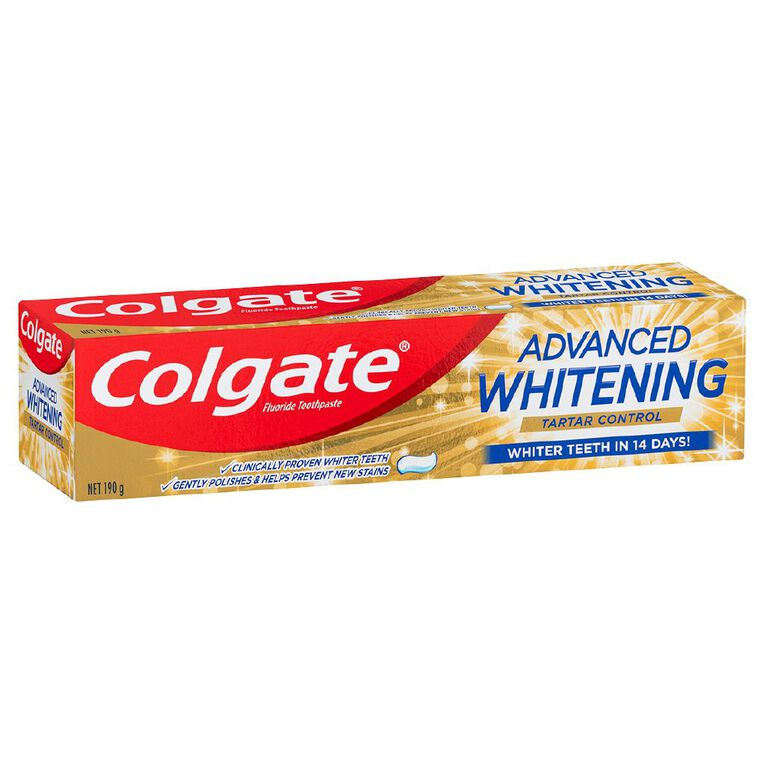Colgate Advanced Whitening Plus Tartar Control 190g, , hi-res