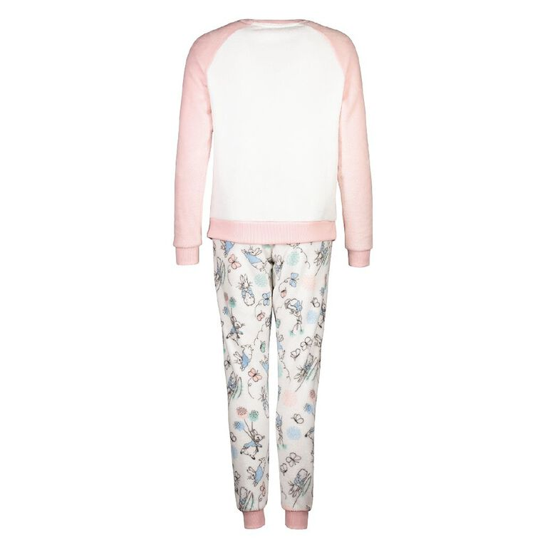 Peter Rabbit Women's Long Sleeves Fleece Pyjama Set, White, hi-res