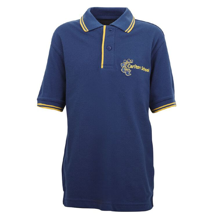 Schooltex Carlton School Polo, Royal/Gold, hi-res