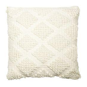 Living & Co Lattice Bobble Cushion White 45cm x 45cm