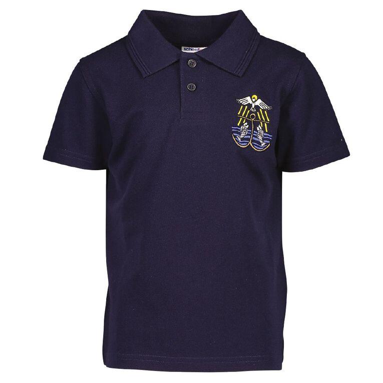 Schooltex St Joseph (Wairoa) School Short Sleeve Polo with Embroidery, Navy, hi-res