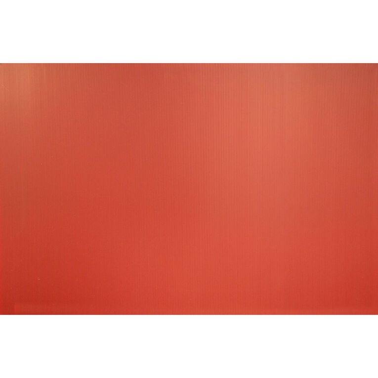 Plasti-Flute Sheet 600mm x 450mm Red, , hi-res