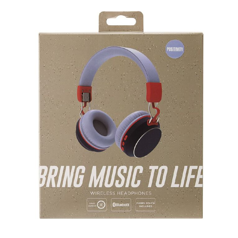 Positivity Wireless Headphones Blue/Red, , hi-res image number null