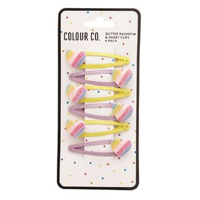 Colour Co. Rainbow & Heart Clips 6 Pack