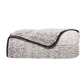 Living & Co Blanket Sherpa Teddy Black One Size