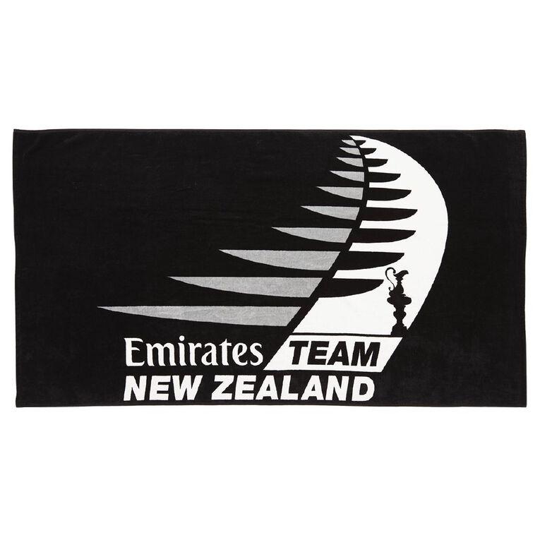 America's Cup Beach Towel Black 86cm x 160cm, Black, hi-res image number null
