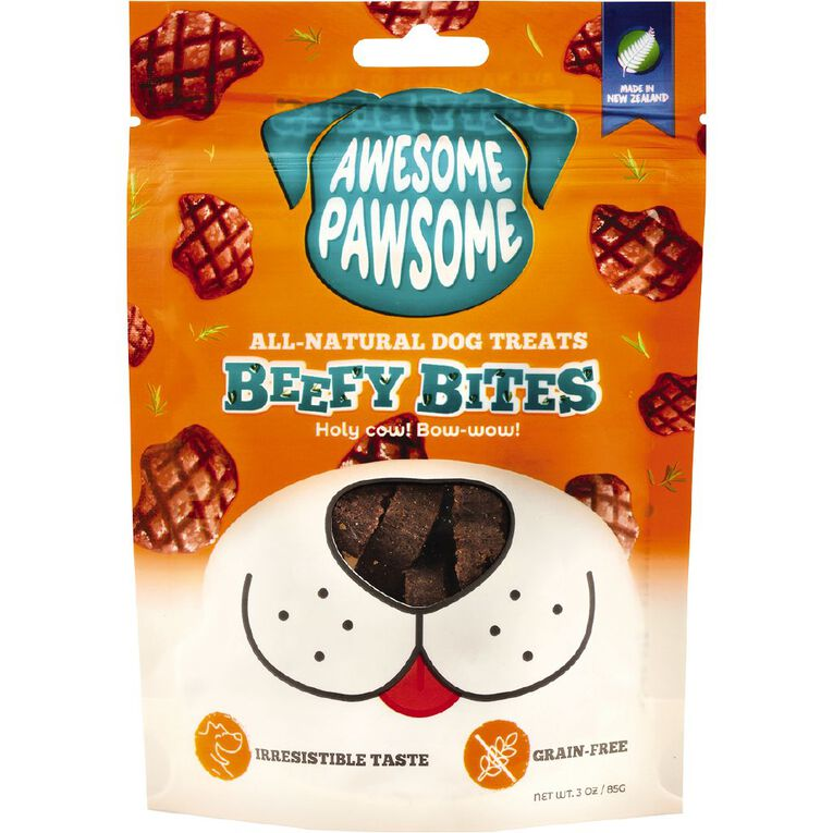 Awesome Pawsome Beefy Bites 85g, , hi-res
