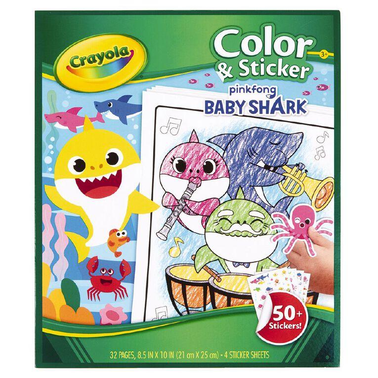 Crayola Colour & Sticker Book Baby Shark, , hi-res