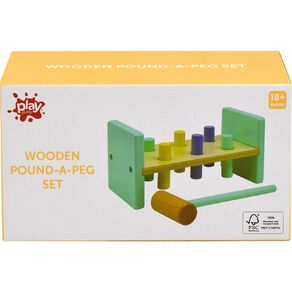 Play Studio Wooden Pound-A-Peg Set