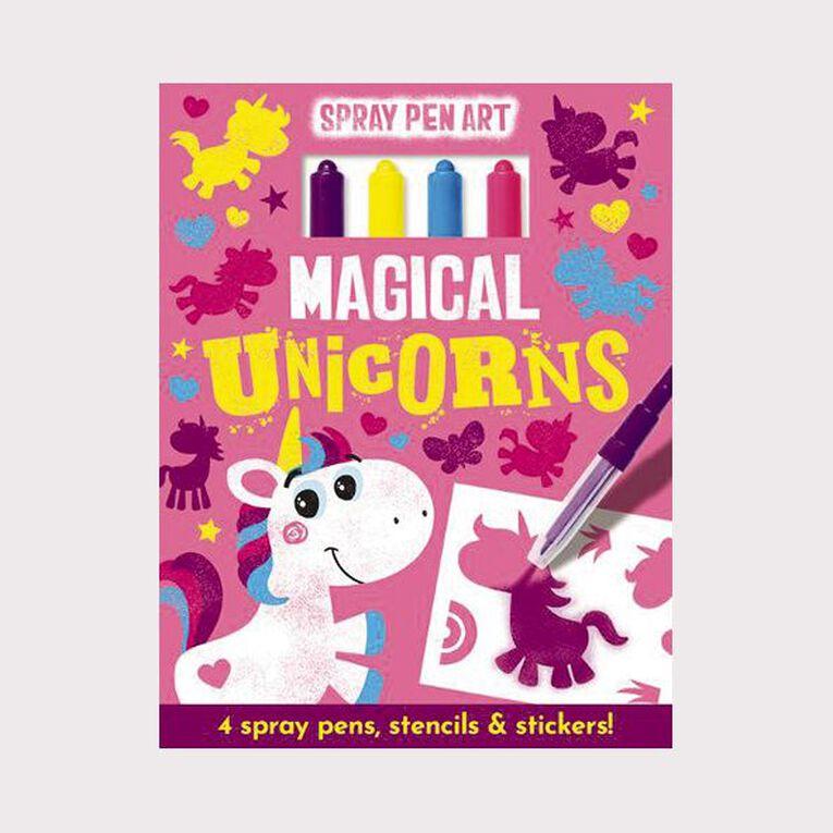 Spray Pen Art: Magical Unicorns, , hi-res
