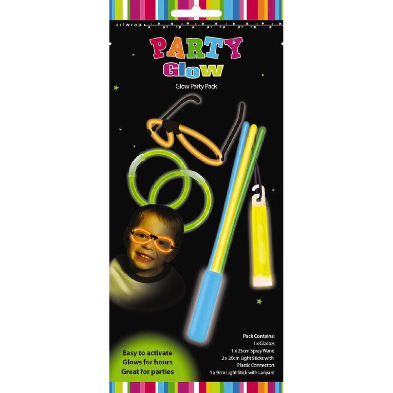 Artwrap Glow Party Pack Boy 5 Piece, , hi-res