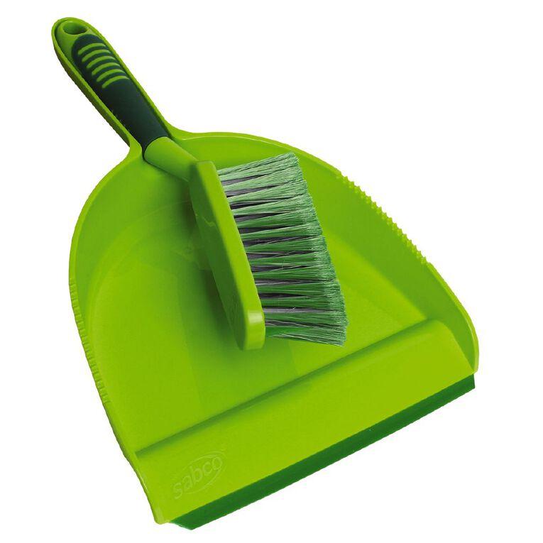 Sabco Cleanline Blade Dustpan & Brush Green, , hi-res