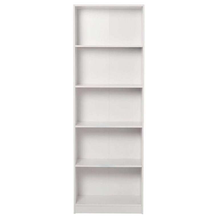Living & Co Mason Bookcase 5 Tier White, , hi-res