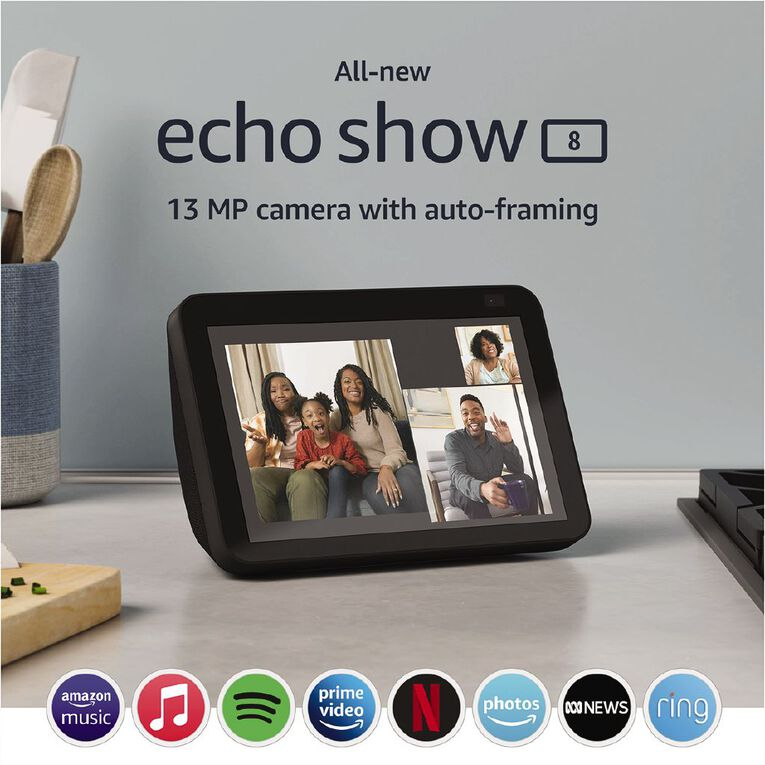 Amazon Echo Show 8 (2nd Gen) Charcoal, , hi-res