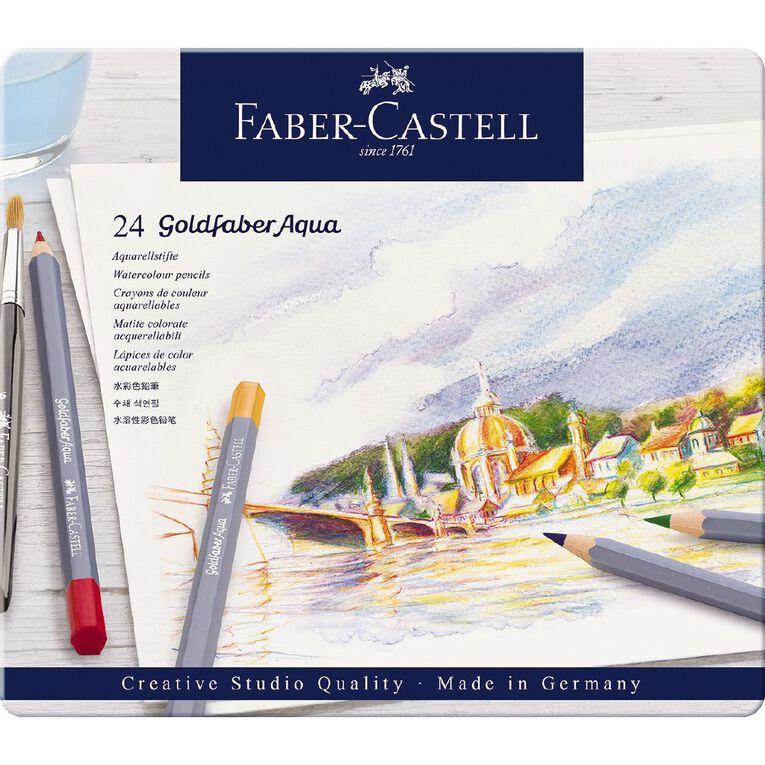 Faber-Castell Goldfaber Aqua Watercolour Pencils in Tin 24 Pack, , hi-res