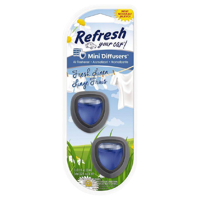 Refresh Your Car Mini Diffuser Fresh Linen 2 Pack, , hi-res