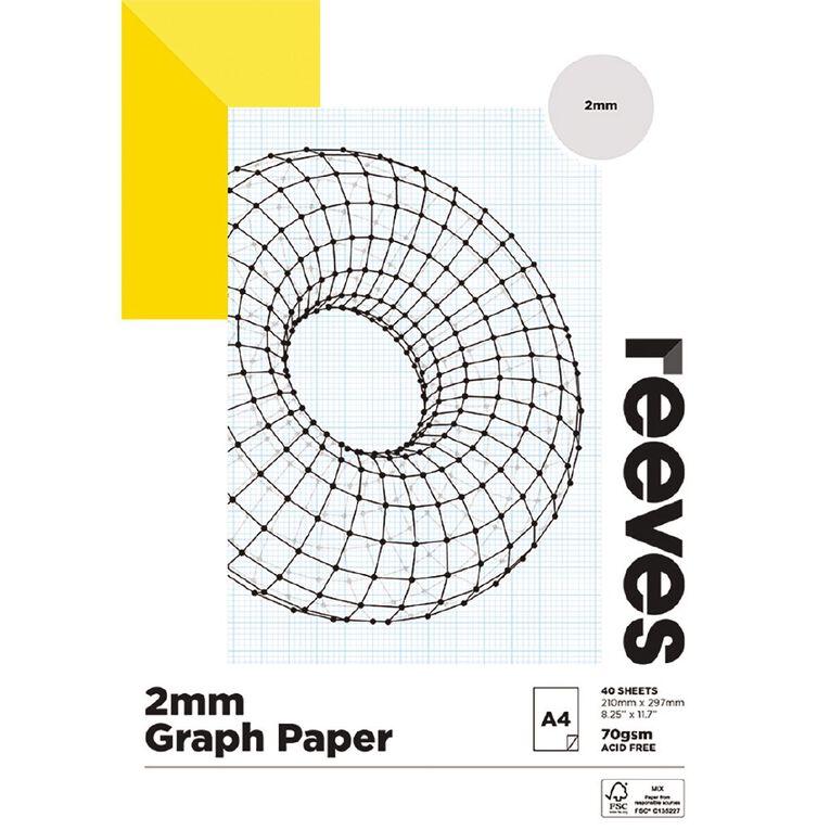 Reeves Graph Pad 2mm 70gsm A4, , hi-res