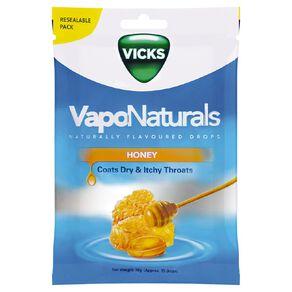 Vicks VapoNaturals Honey Drops Naturally Flavoured 19s Resealable Bag