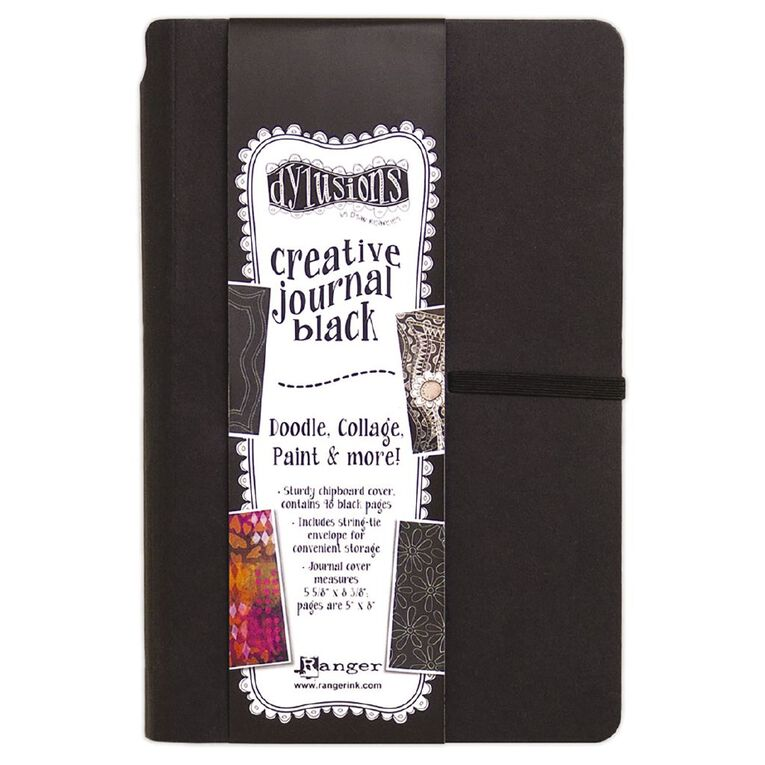 Ranger Dylusions Journals Small Black, , hi-res