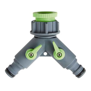 Kiwi Garden Double Connector with Swivel Grey