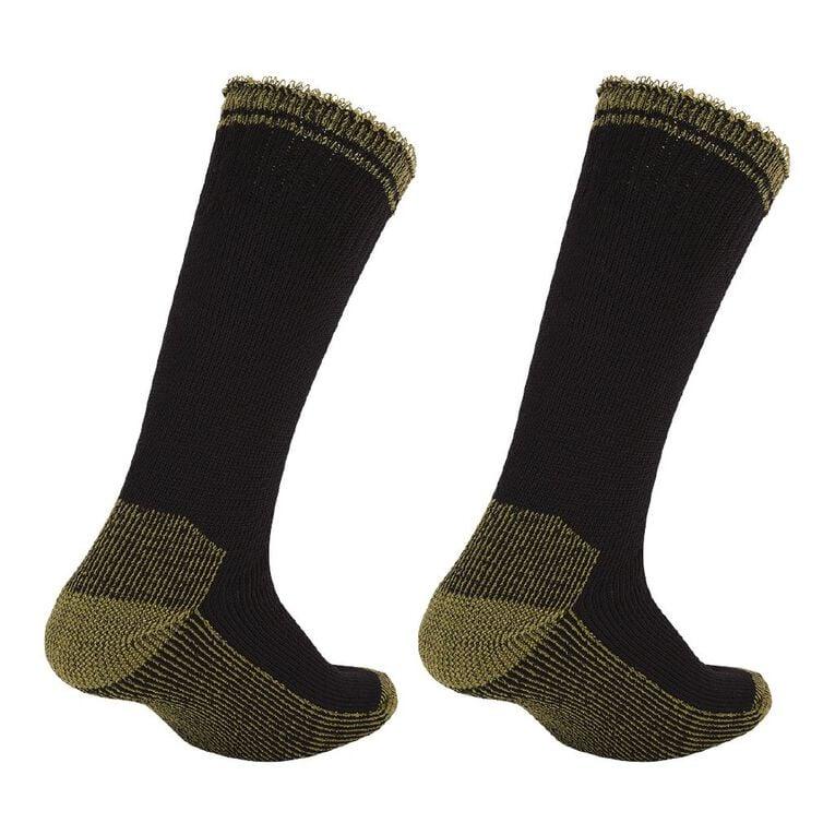 Rivet Men's Work Socks 2 Pack, Black, hi-res image number null
