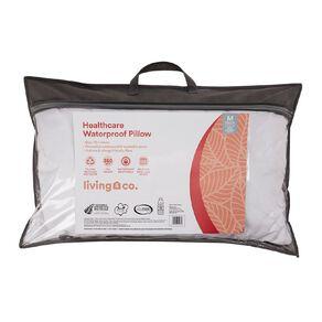 Living & Co Pillow & Protector Healthy Sleep White