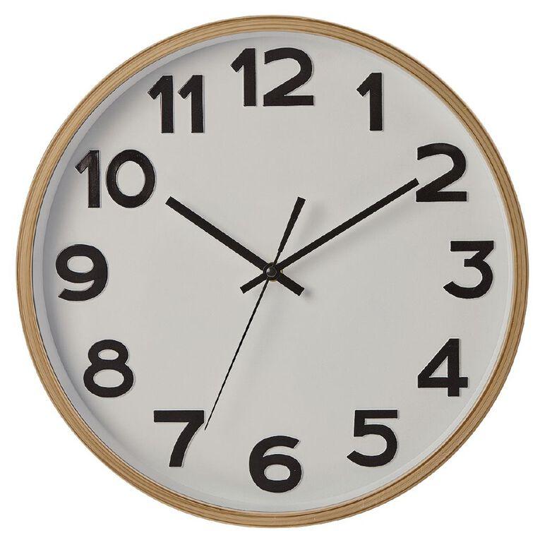 Living & Co Dune Clock Natural 35cm, , hi-res